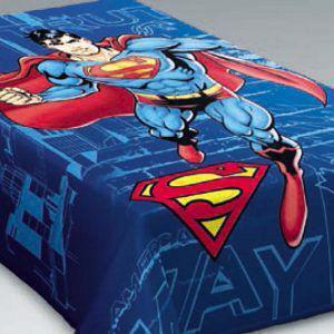 Κουβέρτα Παιδική Ημίδιπλη Βελουτέ BELPLA SUPERMAN