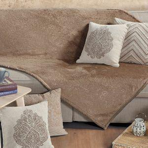 Κουβέρτα Καναπέ 130x170 Fleece NEF NEF EMBOSSED BROWN