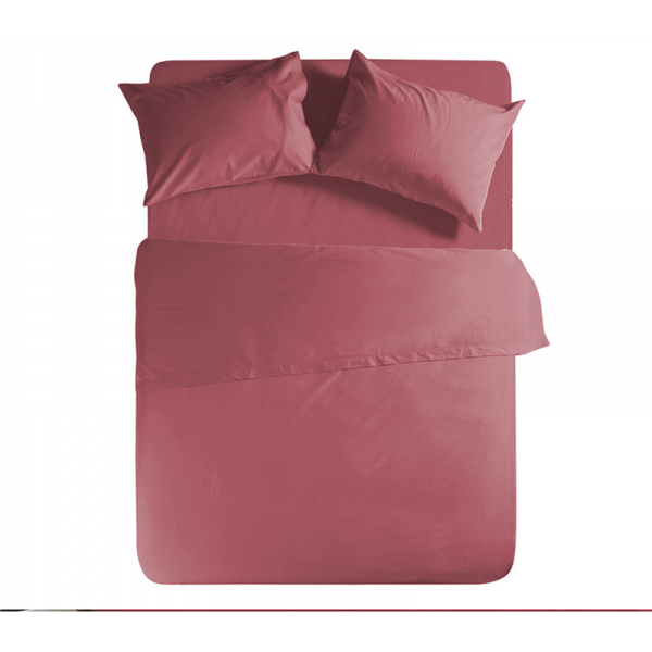 Nef Nef Σεντονι Ημιδιπλο Με Λαστιχο Basic 120x200+30 Ροζ