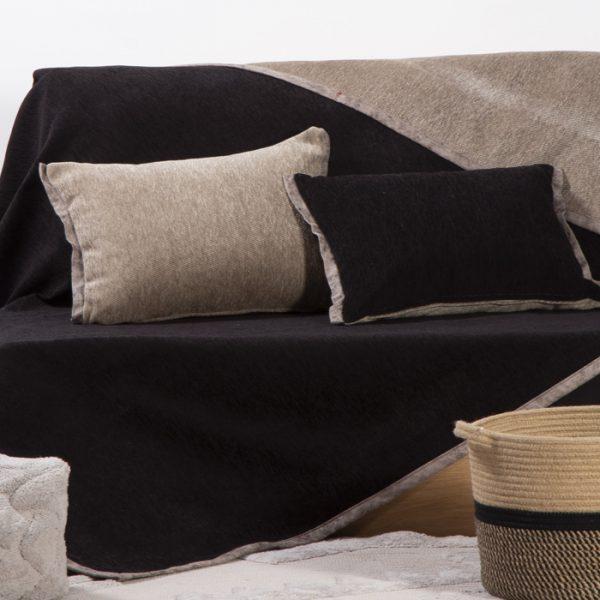 Nef Nef Ριχτάρι Τριθέσιο 180x300 New Tanger Black/mocca