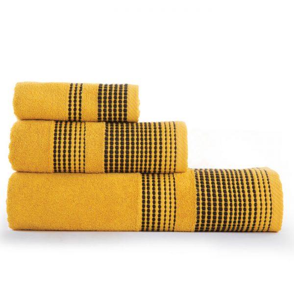 Nef Nef Σετ Πετσέτες 3τμx 30x50, 50x90, 70x140 Keneth Yellow