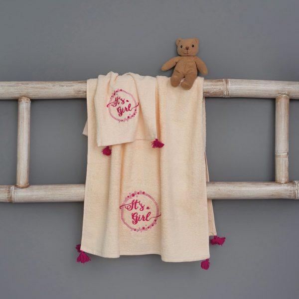 Palamaiki Σετ Πετσετες Μπανιου 40x60, 70x140 Nina Kids Bath