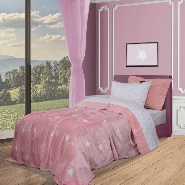 2905 Κουβερτα Fleece 160x220 Junior Greenwich Polo Club Ροζ